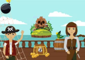 chasse aux tresors pirate
